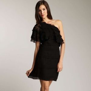 Frock! By Tracy Reese One Shoulder Georgette Dress